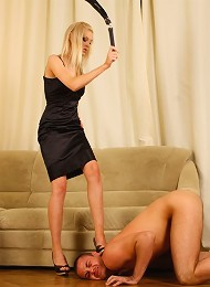 Fascinating slender blonde does whatever she wants with this helpless guy^Russian Mistress Femdom porn xxx sex free pics picture pictures gallery gall