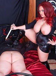 Jemstone dildo slamming Maisee Dee and burns ass with candle^Mistress Jemstone Femdom porn xxx sex free pics picture pictures gallery galleries femdom