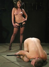 Wolf Hudson, Penny Flame^Captive Male Femdom porn xxx sex free pics picture pictures gallery galleries femdom domination female