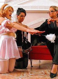 Millionairess Dominatrix Ties Up Maids and Forces Them To Fuck Each Other in Hot FemDom Fuck Scene^Tyrannized Femdom porn xxx sex free pics picture pi