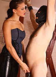 Irresistible lady lashing poor slave and then orders to lick her pussy^Russian Mistress Femdom porn xxx sex free pics picture pictures gallery galleri